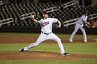Salt River Rafters relief pitcher Adam Bray (16), of the Minnesota Twins organization, delivers a pitch during an Arizona Fall League game against the Scottsdale Scorpions at Salt River Fields at Talking Stick on October 11, 2018 in Scottsdale, Arizona. Salt River defeated Scottsdale 7-6. (Zachary Lucy/Four Seam Images)