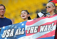Fans of team USA during the FIFA Women's World Cup at the FIFA Stadium in Dresden, Germany on June 28th, 2011.