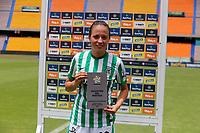 MEDELLÍN- COLOMBIA, 29-08-2021:Maria Fernanda Agudelo.Atlético Nacional y Atlético Bucaramanga en partido por la fecha 10 como parte de la Liga Femenina BetPlay DIMAYOR 2020 jugado en el estadio Atanasio Girardot de Medellín/ Atletico Nacional and Atlético Bucaramanga in match for the date 10 as part of Women's BetPlay DIMAYOR 2021 League, played at Atanasio Girardot stadium of Medellin City. Photo: VizzorImage / Donaldo Zuluaga / Contribuidor