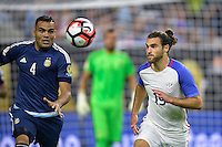 Houston, TX - Tuesday June 21, 2016: Gabriel Mercado, Graham Zusi during a Copa America Centenario semifinal match between United States (USA) and Argentina (ARG) at NRG Stadium.
