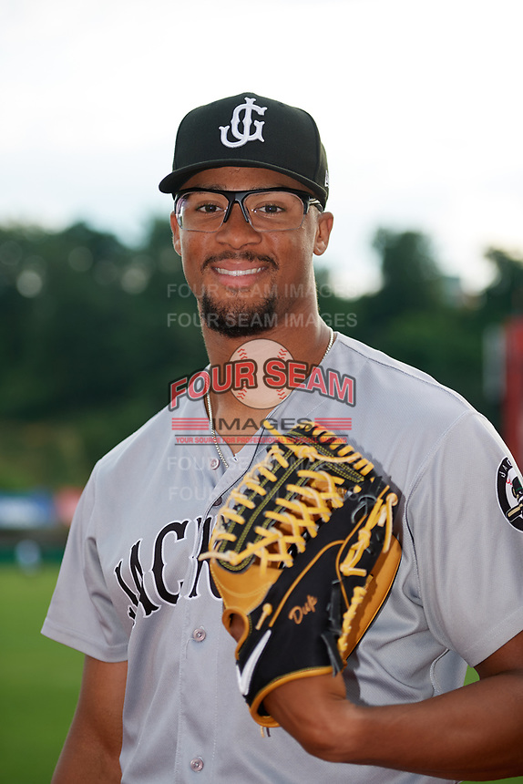 Jackson Generals pitcher Jon Duplantier (19) poses for a photo before a game against the Chattanooga Lookouts on May 9, 2018 at AT&T Field in Chatttanooga, Tennessee.  Chattanooga defeated Jackson 4-2.  (Mike Janes/Four Seam Images)