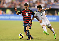 Philadelphia, PA - Wednesday July 19, 2017: Eric Lichaj, Dennis Pineda during a 2017 Gold Cup match between the men's national teams of the United States (USA) and El Salvador (SLV) at Lincoln Financial Field.