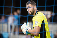 SAN JOSE, CA - AUGUST 13: Maxime Crepeau #16 of the Vancouver Whitecaps prepares for a corner during a game between San Jose Earthquakes and Vancouver Whitecaps at PayPal Park on August 13, 2021 in San Jose, California.