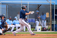 Atlanta Braves Bryce Ball (95) bats during a Minor League Spring Training game against the Tampa Bay Rays on April 25, 2021 at Charlotte Sports Park in Port Charlotte, Fla.  (Mike Janes/Four Seam Images)
