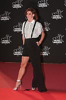 Fauve Hautot arrive sur le Tapis Rouge / Red Carpet avant la Ceremonie des 19 EME NRJ MUSIC AWARDS 2017, Palais des Festivals et des Congres, Cannes Sud de la France, samedi 4 novembre 2017.