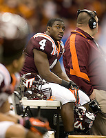 David Wilson of Virginia Tech is pictured during Sugar Bowl game against Michigan at Mercedes-Benz SuperDome in New Orleans, Louisiana on January 3rd, 2012.  Michigan defeated Virginia Tech, 23-20 in first overtime.