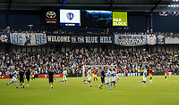 Kansas City, KS - Wednesday September 20, 2017: Sporting KC warms up during the 2017 U.S. Open Cup Final Championship game between Sporting Kansas City and the New York Red Bulls at Children's Mercy Park.
