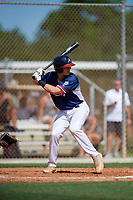 Jimmy Obertop during the WWBA World Championship at the Roger Dean Complex on October 18, 2018 in Jupiter, Florida.  Jimmy Obertop is a catcher from Saint Louis, Missouri who attends Westminster Christian Academy and is committed to Michigan.  (Mike Janes/Four Seam Images)