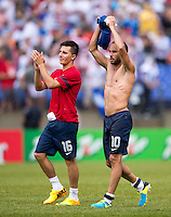 Landon Donovan, Jose Torres.  The United States defeated El Salvador, 5-1, during the quarterfinals of the CONCACAF Gold Cup at M&T Bank Stadium in Baltimore, MD.