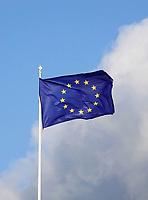 Nederland Den Haag -  maart 2021.  Vlag van Europa.     Foto ANP / Hollandse Hoogte /  Berlinda van Dam