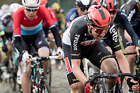 Tim Wellens (BEL/Lotto-Soudal) up the Molenberg cobbles<br /> <br /> 76th Omloop Het Nieuwsblad 2021<br /> ME(1.UWT)<br /> 1 day race from Ghent to Ninove (BEL): 200km<br /> <br /> ©kramon