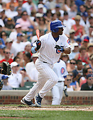 Jacque Jones of the Chicago Cubs vs. the San Diego Padres: June 18th, 2007 at Wrigley Field in Chicago, IL.  Photo copyright Mike Janes Photography 2007.