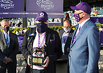 November 6, 2020: Connections for Vequist, winner of the Juvenile Fillies on Breeders' Cup Championship Friday at Keeneland on November 6, 2020: in Lexington, Kentucky. Bill Denver/Breeders' Cup/Eclipse Sportswire/CSM