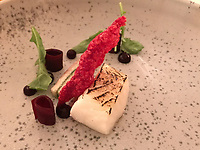 """The dish of """"Patagonian toothfish: light cooked and flamed 