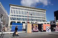 Nederland Den Haag -  maart 2021.   Amare is het toekomstige onderwijs- en cultuurcomplex aan het Spui in Den Haag.     Foto ANP / Hollandse Hoogte /  Berlinda van Dam