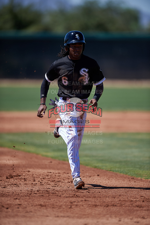 AZL White Sox James Beard (6) runs to third base during an Arizona League game against the AZL Athletics Gold on July 4, 2019 at Camelback Ranch in Glendale, Arizona. The AZL White Sox defeated the AZL Athletics Gold 6-2. (Zachary Lucy/Four Seam Images)