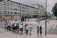 peloton in the streets of Antwerp<br /> <br /> 2017 National Championships Belgium - Elite Men - Road Race (NC)<br /> 1 Day Race: Antwerpen > Antwerpen (233km)