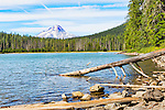 Mount Hood over Frog Lake, along the Mt.Hood Highway (U.S. 26) near the town of Government Camp, Oregon in Klakamas County.