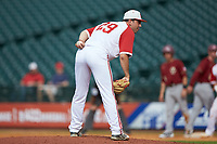 North Carolina State Wolfpack relief pitcher Sean Adler (29) looks to his catcher for the sign against the Boston College Eagles in Game Two of the 2017 ACC Baseball Championship at Louisville Slugger Field on May 23, 2017 in Louisville, Kentucky. The Wolfpack defeated the Eagles 6-1. (Brian Westerholt/Four Seam Images)