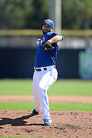 Toronto Blue Jays pitcher Brandon Morrow (23) during a spring training game against the Pittsburgh Pirates on February 28, 2014 at Florida Auto Exchange Stadium in Dunedin, Florida.  Toronto defeated Pittsburgh 4-2.  (Mike Janes/Four Seam Images)