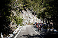 Team UAE - Team Emirates setting a pace to launch Tadej Pogačar later, on the final climb of the day<br /> <br /> Stage 4 from Terni to Prati di Tivo (148km)<br /> <br /> 56th Tirreno-Adriatico 2021 (2.UWT) <br /> <br /> ©kramon