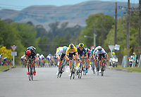 NZ's Brad Evans (left) sprints towards the finish line during the UCI Oceania Tour - NZ Cycle Classic stage two - Masterton to Martinborough circuit in Wairarapa, New Zealand on Thursday, 21 January 2016. Photo: Dave Lintott / lintottphoto.co.nz