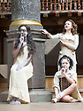 Macbeth by William Shakespeare. A Shakespeare's Globe Production directed by Eve Best. with Moyo Akande, Cat Simmons, , Jess Murphy as Witches.Opens at the Shakespeare's Globe Theatre on 4/7/13  pic Geraint Lewis