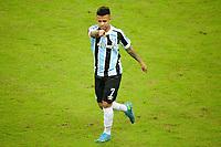 PORTO ALEGRE, RS, 13.05.2021 - GREMIO - LANUS - O volante Matheus Henrique, da equip do Grêmio, comemora o seu gol, na partida entre Grêmio e Lanús, pela quarta rodada do Grupo H, da Copa Sul-Americana 2021, no estádio Arena do Grêmio, em Porto Alegre, nesta quinta-feira (13).