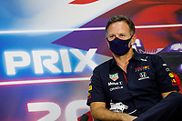 26th March 2021; Sakhir, Bahrain; F1 Grand Prix of Bahrain, Free Practice sessions;  HORNER Christian (gbr), Team Principal of Red Bull Racing, press conference during Formula 1 Gulf Air Bahrain Grand Prix