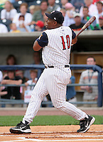 Coach Leon Durham of the Toledo Mudhens during the home run derby before the Triple-A All-Star Game at Fifth Third Field on July 10, 2006 in Toledo, Ohio.  (Mike Janes/Four Seam Images)