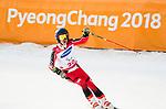 Alexis Guimond, PyeongChang 2018 - Para Alpine Skiing // Ski para-alpin.<br /> Alexis Guimond skis to the bronze in the giant slalom // Alexis Guimond  skis pour le bronze dans le slalom géant. 14/03/2018.