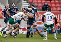 21st March 2021; AJ Bell Stadium, Salford, Lancashire, England; English Premiership Rugby, Sale Sharks versus London Irish; Jono Ross of Sale Sharks is tackled