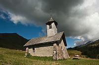 Europe/France/Rhône-Alpes/74/Haute-Savoie/Env Le Grand-Bornand: Chapelle de La Duche et Col des Annes