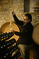 Italie, Val d'Aoste, Morgex: Ermes Pavese,  dans sa cave  // Italy, Aosta Valley, Morgex: Ermes Pavese, in his cellar