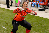 Chicago, IL - Saturday July 30, 2016: Michele Dalton after a regular season National Women's Soccer League (NWSL) match between the Chicago Red Stars and FC Kansas City at Toyota Park.