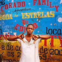 A Kuduru/Kuduro musician stands outside his studio in the Sambizanga musseque (slum) near Luanda's airport...