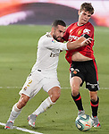 Real Madrid's Daniel Carvajal (l) and RCD Mallorca's Aleix Febas during La Liga match. June 24,2020. (ALTERPHOTOS/Acero)