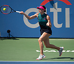 August 1,2018:  Andrea Petkovic (GER) defeated Sloane Stephens (USA) 2-6, 6-4, 6-2, at the CitiOpen being played at Rock Creek Park Tennis Center in Washington, DC, .  ©Leslie Billman/Tennisclix/CSM