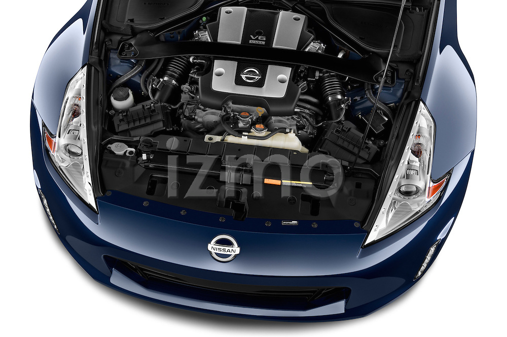 High angle engine detail of a  .2017 Nissan 370Z AT Roadster