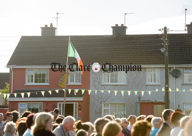 A general view of Mc Namara Park as residents gather in the green for mass as part of the 50th anniversary celebrations of Mc Namara Park in Ennis. Photograph by John Kelly.