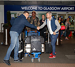 Pedro Caixinha with Dalcio Gomes as they arrive in Glasgow this morning