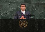 Opening of GA 72 2017 PM<br /> <br /> His Excellency Juan Orlando Hernández Alvarado, President of the Republic of Honduras