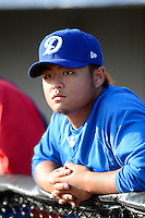 Daytona Cubs pitcher Yao-Lin Wang #40 during a game against the Brevard County Manatees at Spacecoast Stadium on April 5, 2013 in Viera, Florida.  Daytona defeated Brevard County 8-0.  (Mike Janes/Four Seam Images)
