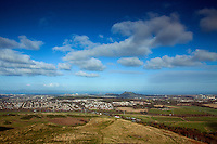 Edinburgh and Arthur's Seat from Caerketton, The Pentland Hills, The Pentland Hills Regional Park, Lothian