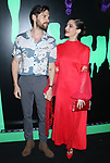 NEW YORK, NY- OCTOBER 4: Tom Riley and Lizzy Caplan at the Hulu kick off celebrating the Halloween season at Huluween HQ in New York City on October 4, 2019.    <br /> CAP/MPI/RW<br /> ©RW/MPI/Capital Pictures