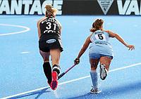 Stacey Michelsen during the Pro League Hockey match between the Blacksticks women and Argentina, Nga Punawai, Christchurch, New Zealand, Sunday 1 March 2020. Photo: Simon Watts/www.bwmedia.co.nz