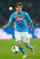 Calcio, Serie A: Napoli vs Juventus. Napoli, stadio San Paolo, 30 marzo 2014. <br /> Napoli defender Adriano Buss Henrique, of Brazil, in action during the Italian Serie A football match between Napoli and Juventus at Naples' San Paolo stadium, 30 March 2014.<br /> UPDATE IMAGES PRESS/Isabella Bonotto