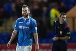St Johnstone v Hamilton Accies...04.01.15   SPFL<br /> Ref Andrew Dallas sends off James McFadden<br /> Picture by Graeme Hart.<br /> Copyright Perthshire Picture Agency<br /> Tel: 01738 623350  Mobile: 07990 594431