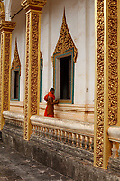 Monks and Novices in a temple , Siem Reap<br /> , Cambodia<br /> <br /> PHOTO :  Agence Quebec Presse<br /> <br /> <br /> <br /> <br /> <br /> PHOTO : Agence Quebec Presse