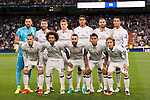 Players of Real Madrid pose for photos during their 2016-17 UEFA Champions League match between Real Madrid vs Sporting Portugal at the Santiago Bernabeu Stadium on 14 September 2016 in Madrid, Spain. Photo by Diego Gonzalez Souto / Power Sport Images